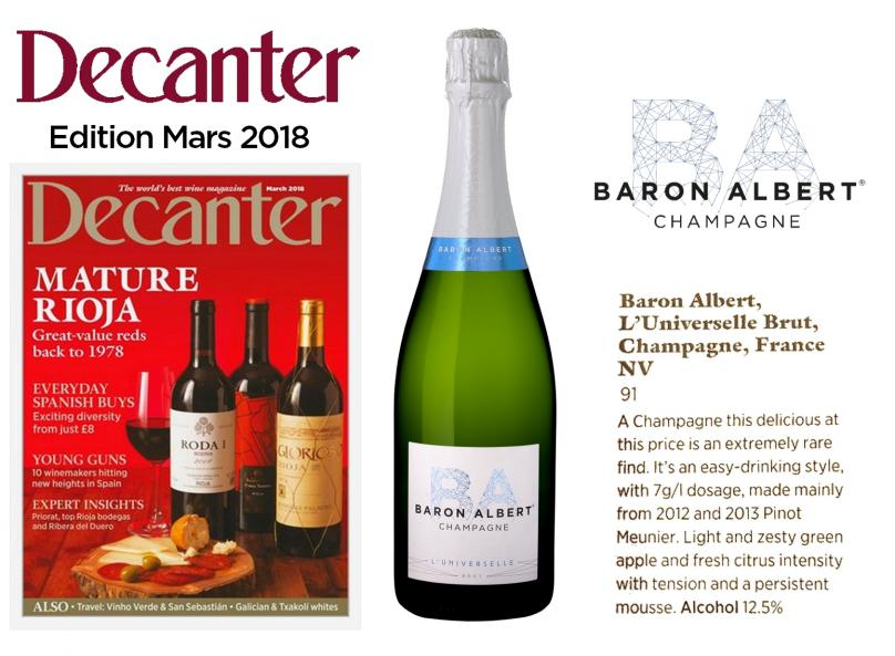 Decanter Magazine, L'UNIVERSELLE noticed!