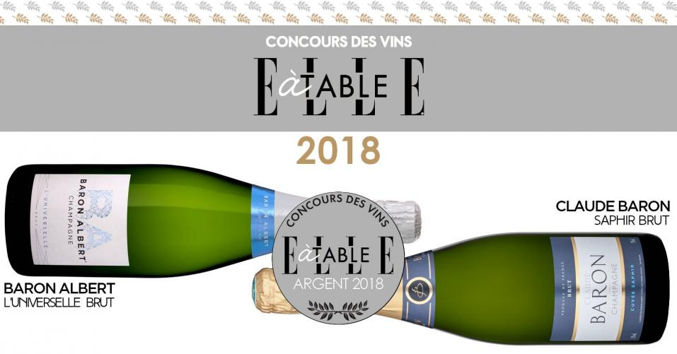 Silver Medals - Elle à Table Wine Competition
